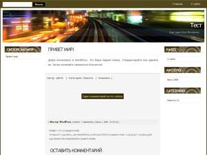 Темы для WordPress -  City Life