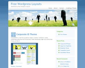 Скачать тему для WordPress -  Bluebusiness
