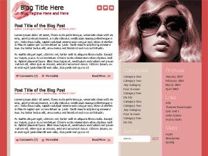 Скачать тему для WordPress -  Beauty bling