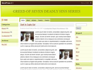 Скачать тему для WordPress -  Greed