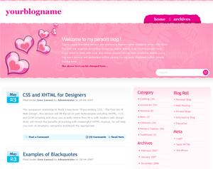 Розовый шаблон Pinklove для вордпресс