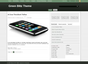 Green Blitz зеленый шаблон для сайта на WP