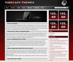 Time Cafe бесплатный шаблон для WordPress