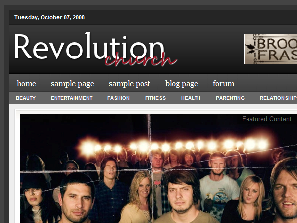 Revolution Church 1.0 тема WordPress