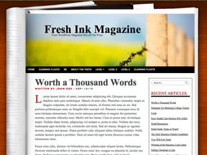Fresh Ink Magazine - русская тема для WP