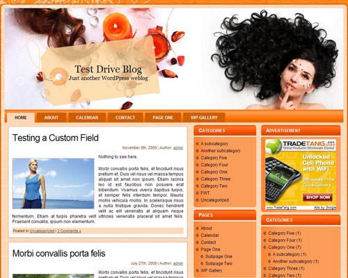 Русский шаблон Hair_theme для WordPress