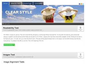 Clear-style русская тема для WordPress