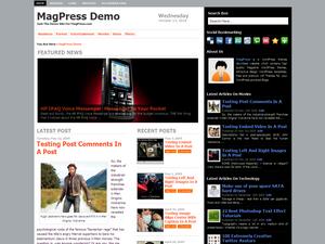 Zenews бесплатный шаблон WordPress