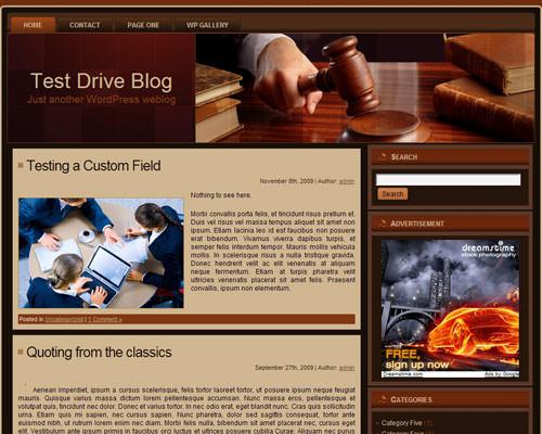 Тема At_law для WordPress