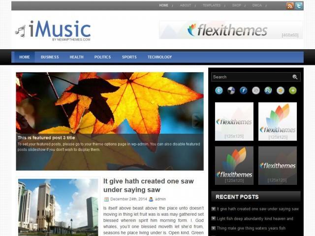 iMusic современный шаблон для Вордпресс