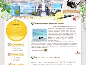 Русский шаблон Paradise-in-indonesia для WP