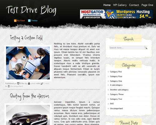 Тема Scrape Blog для WP