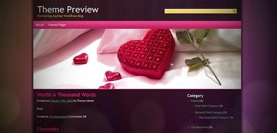 Любовный шаблон Beauty-dots