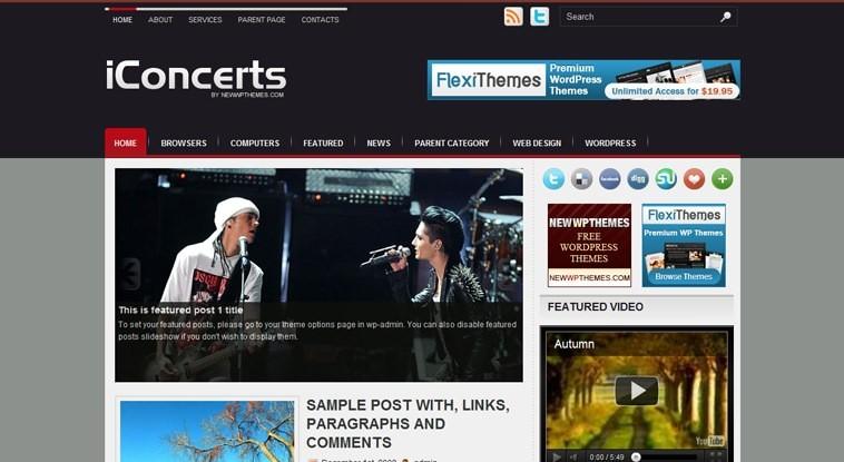 Концертный шаблон iConcerts