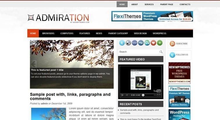 Великолепная тема Admiration для WordPress