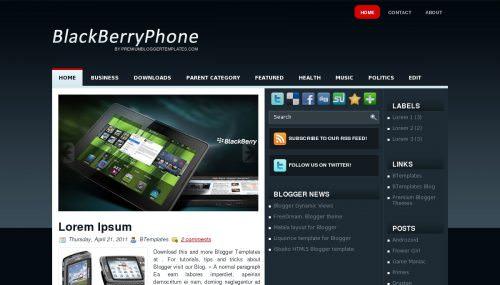 Шаблон BlackBerryPhone