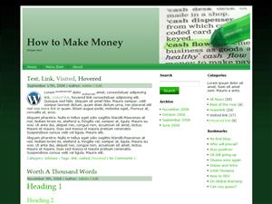 Финансовый шаблон CashFlow для Вордпресс