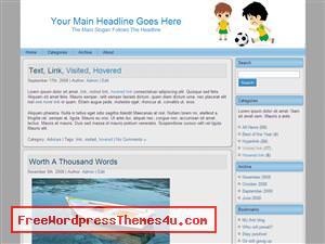 Тема о детях Child_soccer_charge для Вордпресс