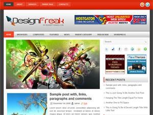 Красивый шаблон WordPress - DesignFreak