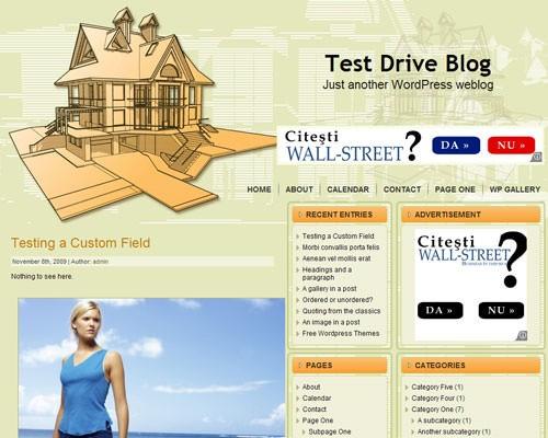 Тема о недвижимости для Вордпресс - Dream_house_project