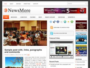 Новостная тема NewsMore для WP