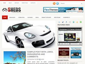Премиум тема для автомобильного сайта - Sheds
