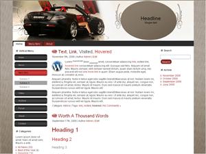 Автотема для Вордпресс - Stylish_car