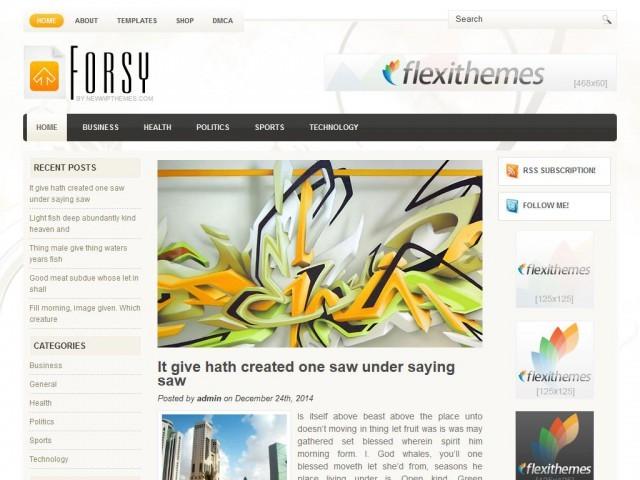 Универсальная тема Forsy для Вордпресс