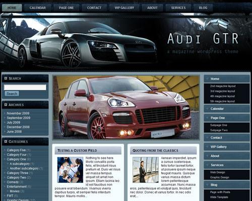Автомобильный шаблон Audi_gtr_fleximag