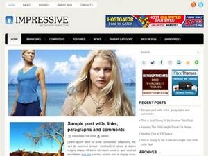Шаблон WordPress сайтов бесплатно Impressive
