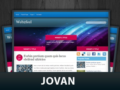 Шаблон wordpress широкий Jovan