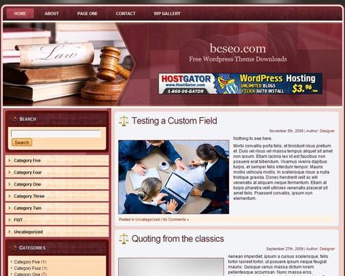 Law_wordpress_theme_3 шаблон wordpress 2011