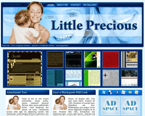 Детский шаблон WordPress Little_precious