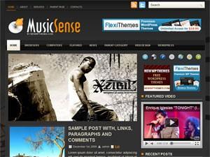 Современный шаблон Вордпресс MusicSense
