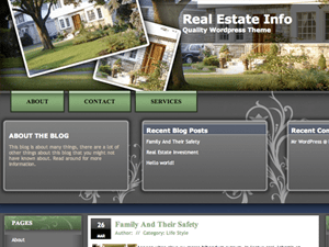 Вордпресс шаблон недвижимость - Realestate3