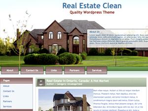 Тема о недвижимости для WordPress Realestateclean