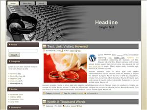 Шаблон о музыке WordPress Thread