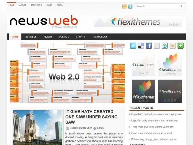 Новостной шаблон NewsWeb для WordPress