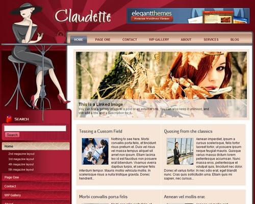 Женская тема WordPress Claudette