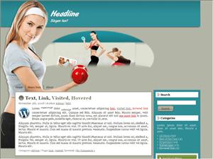 Шаблон о фитнесе Fitness_7 для Вордпресс