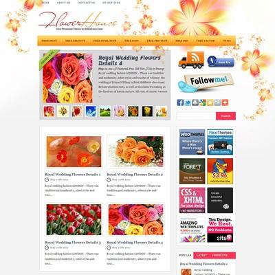 Яркий шаблон Вордпресс FlowerHouse