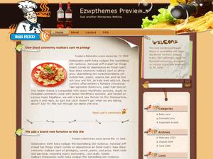 Кулинарная тема Вордпресс Golden_Match