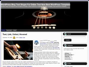 Музыкальная тема Вордпресс Guitar_In_Darkness