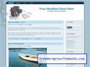Тема для Вордпресс недвижимость House_blueprint_design