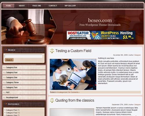 Шаблон о законе WordPress Law_wordpress_theme_2