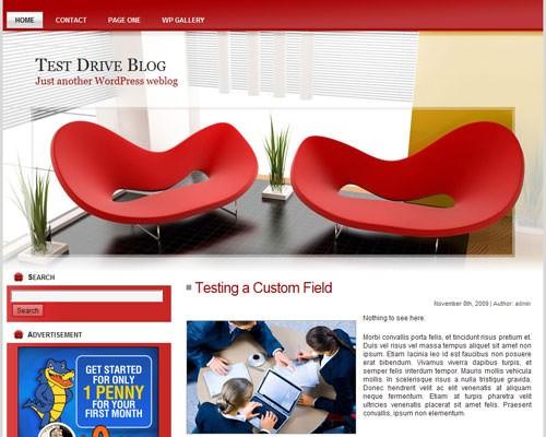 Дизайн интерьера тема для Вордпресс Modern_interiors_wp