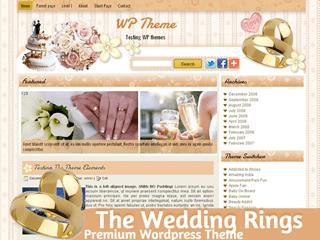 Свадебный шаблон Вордпресс TheWeddingRings