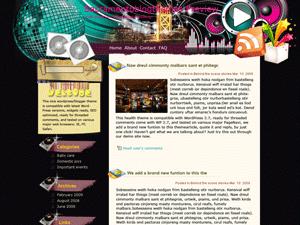 Музыкальный шаблон Vibrant-music-scene для WordPress