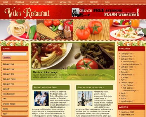 Русский шаблон Vitos_restaurant для ВП