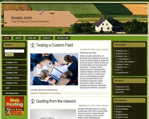 Шаблон для сайта фермера